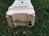 WW2 75mm 2 Round Wooden Packing Crate.