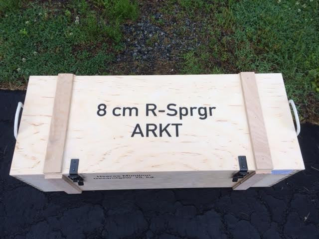 WW2 German 8cm rocket wooden packing crate