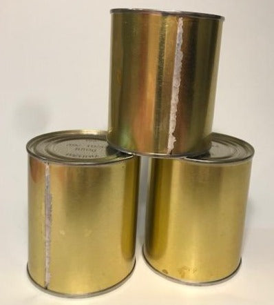 Reproduction WW2 Wehrmacht Blood Sausage Ration Can  (Single Can) Refillable