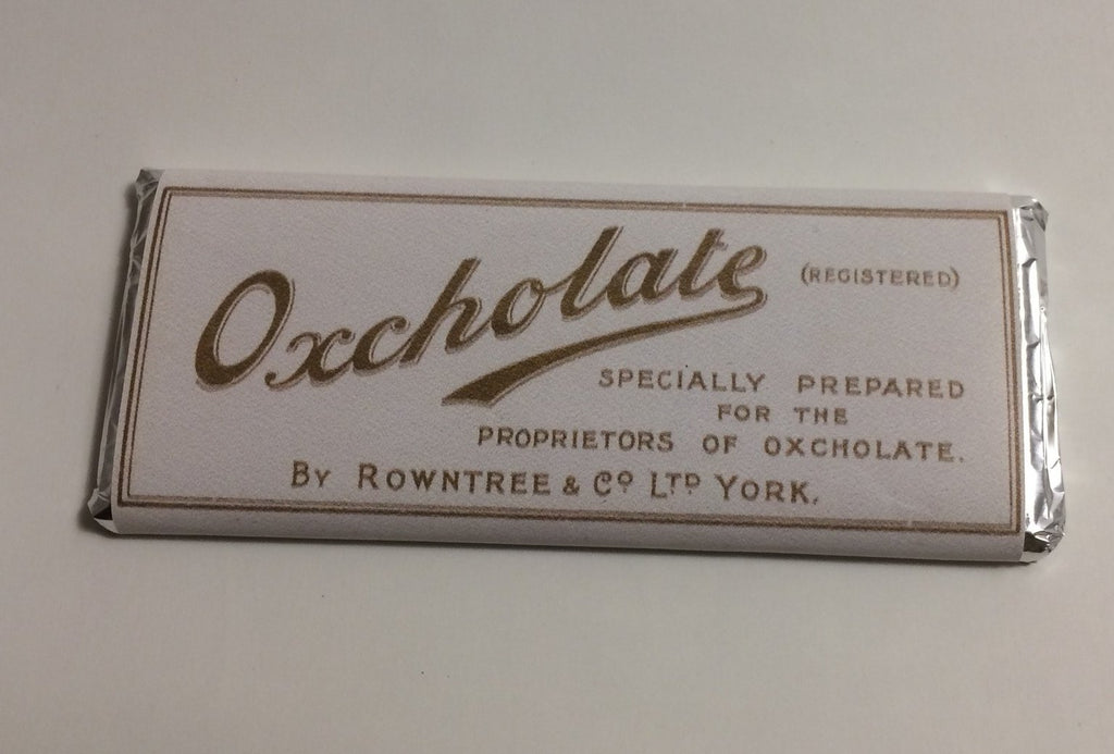 Reproduction Oxcolate Chocolate Wrapper