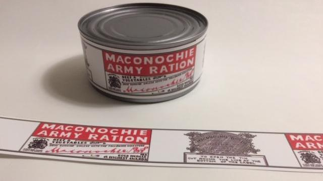 Reproduction WW1 Machonochie Brothers Army Ration Label