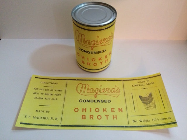 Reproduction WW2 Magiera's Chicken Broth Can Label