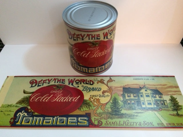 Reproduction WW1 Defy the World Brand Tomatoes Can Label
