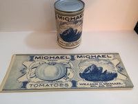 Reproduction WW1 Michael Brand Tomatoes Can Label