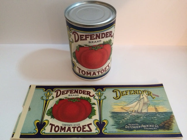 Reproduction WW1 Defender Brand Tomatoes Can Label