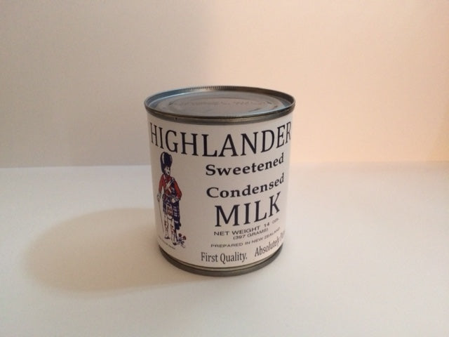 Reproduction WW1 Highlander Condensed Milk Can Label