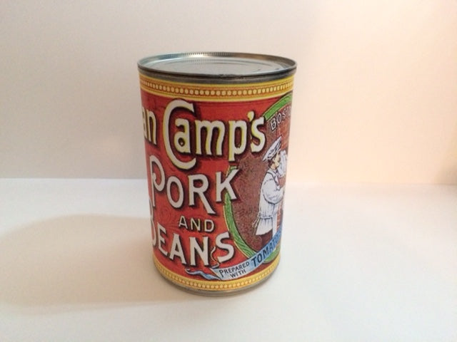 Reproduction WW1 Van Camps Pork and Beans Can Label