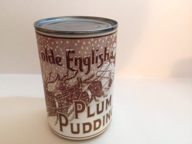 Reproduction WW1 Olde English Plum Pudding Can Label