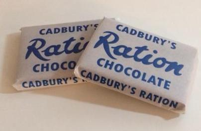 Reproduction WW2 Cadbury's Ration Chocolate Wrapper