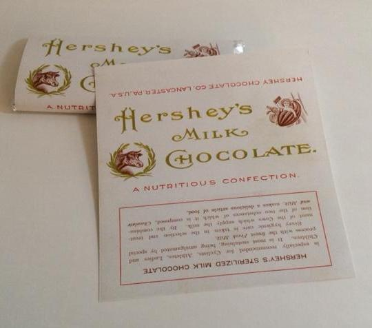 Reproduction Hershey's Milk Chocolate Wrappers