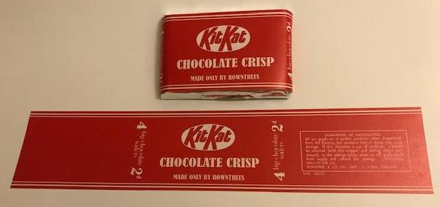 WW2 Kit Kat Chocolate Crisp Wrapper