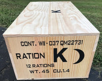 WW2 K Ration Wooden Crate Late