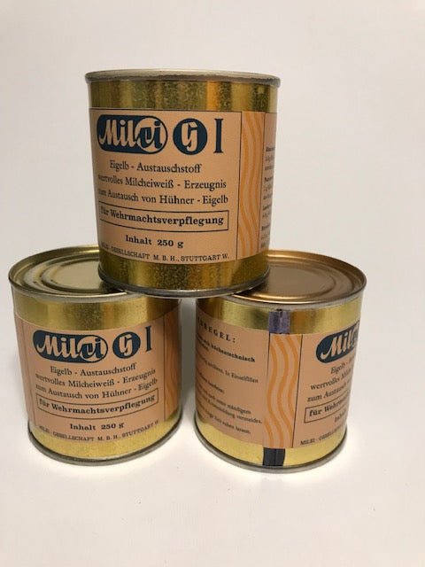 Reproduction WW2 Wehrmacht Milei G Ration Can  (Single Can) Refillable