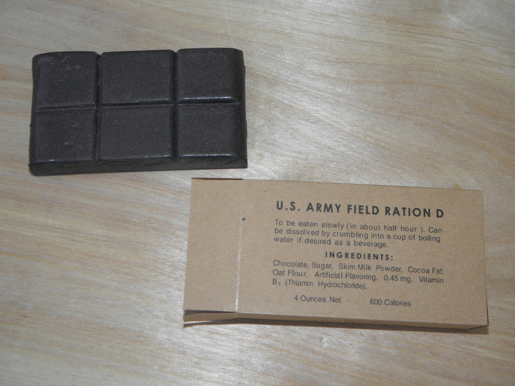 Reproduction WW2 D Ration Bar 4 oz.