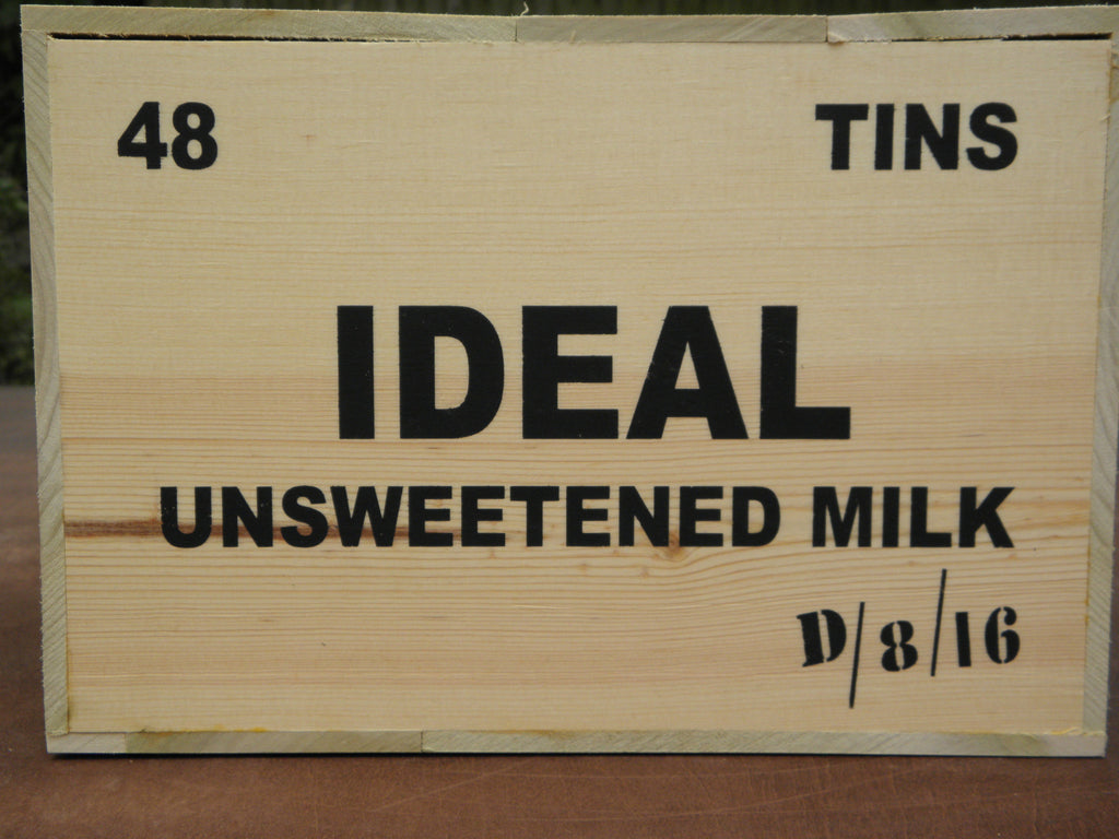 WW1 Unsweetened Milk Wooden Packing Crate