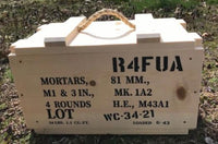 WW2 81mm 4 Rounds Wooden Mortar Crate