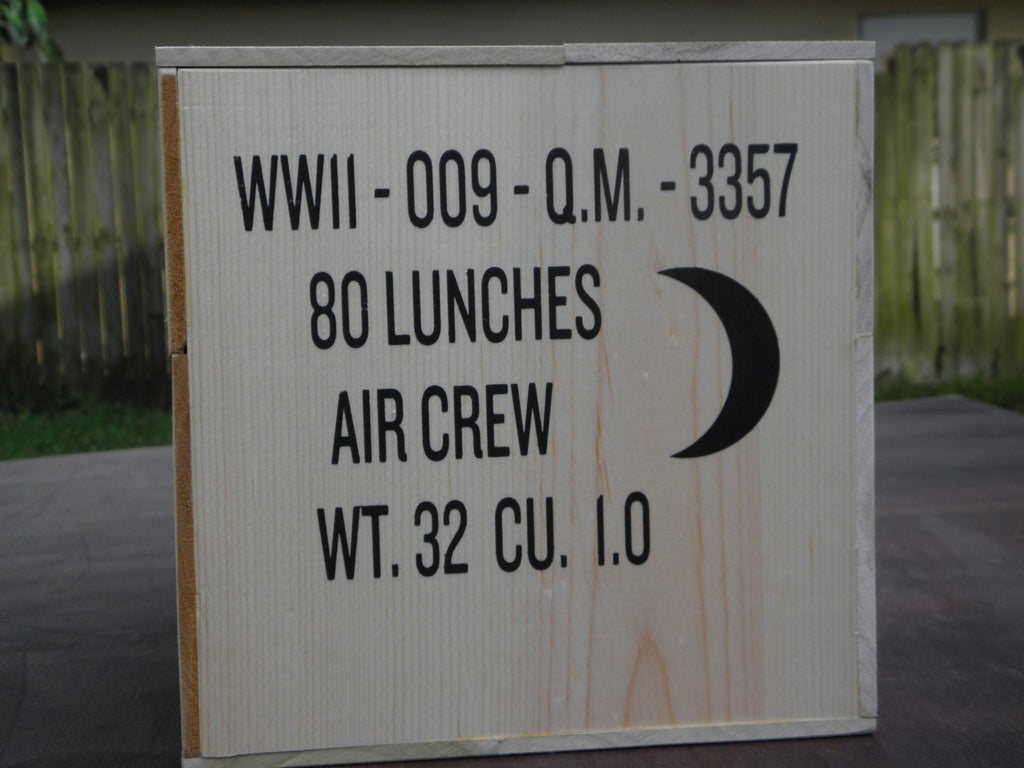WW2 Aircrew Lunches Wooden Crate