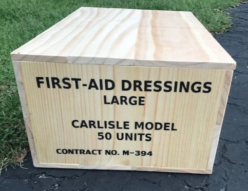 WW2 U.S. Carlisle Bandage Medical Crate with Insert