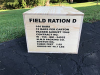 WW2 D Ration Wooden Crate (Fully Loaded)