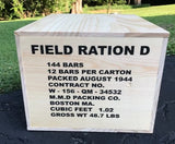 WW2 Reproduction D Ration Wooden Crate