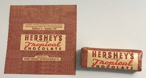Hershey's WW2 Tropical Chocolate Bar Wrapper