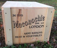 Reproduction WW1 Machonochie Brothers Army Rations Crate