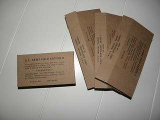 Reproduction WW2 U.S. Army D Ration Boxes (4)