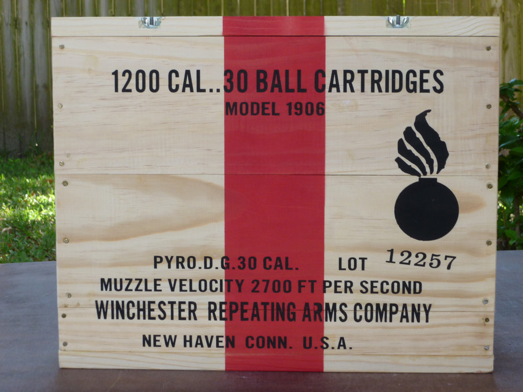 WW1 30 Caliber Wooden Packing Crate