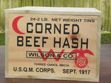 WW1 U.S. Wooden Ration Crate (Corned Beef Hash)