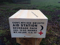 WW2 U.S. Aid Station Beverage Pack Crate