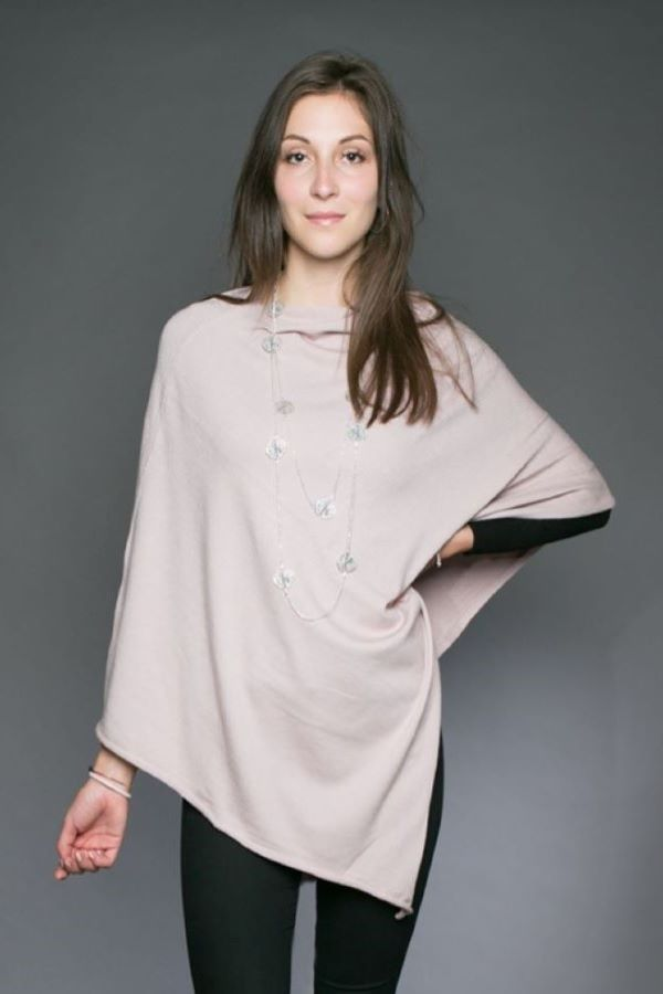 Tilley Poncho in blush