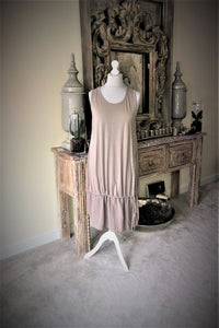 Lagenlook Stone tie dress