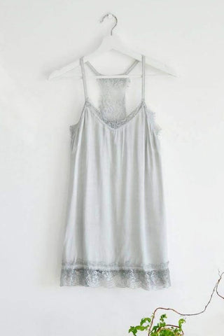 Grey lace trim Camisole/Vest Top