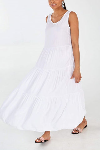 Bow Back boho style Maxi Dress