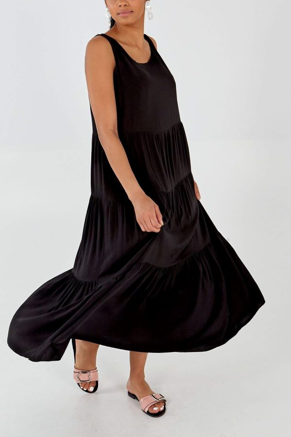Boho Bow Back Floaty Maxi Dress