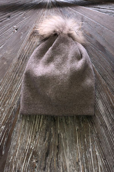 Fur Toffee  pompom hat