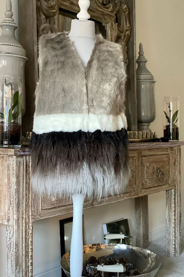 Ombre Two Tone Faux Fur Gilet