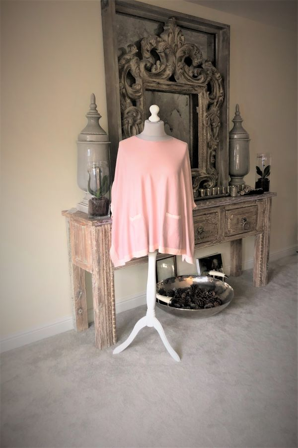 Baby pink Lucy pocket Poncho