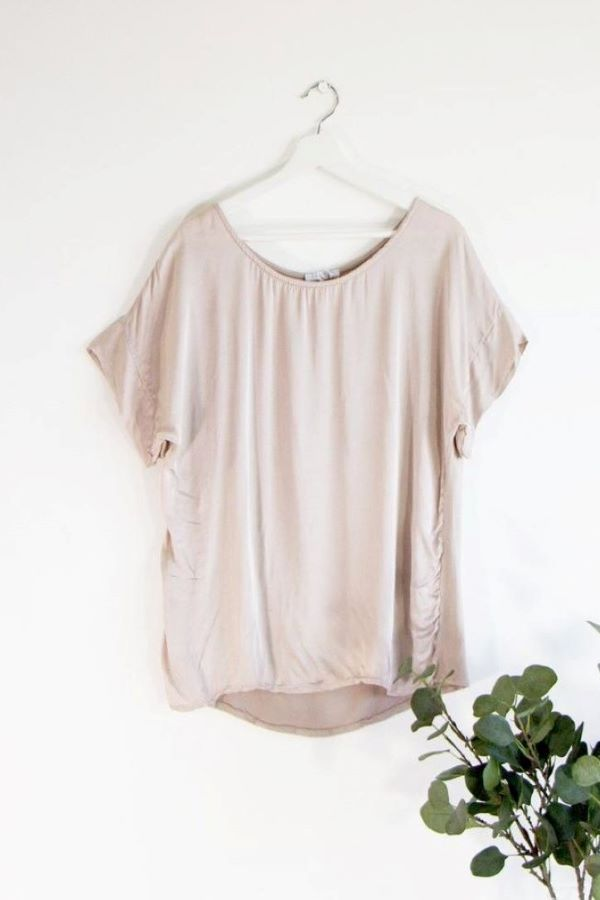 Silky Dressy T-Shirt Antique Pink