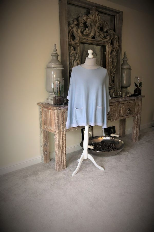 Baby Blue Lucy pocket Poncho