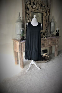 Lagenlook Black tie dress