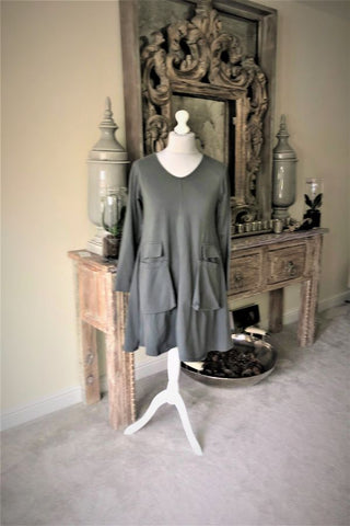 Knee length Tunic/dress grey