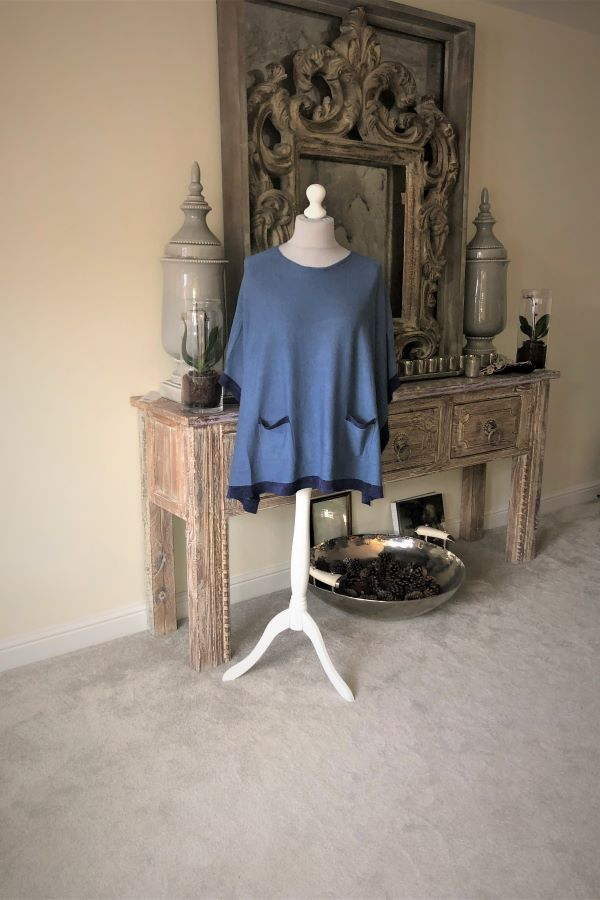Denim blue  Lucy poncho