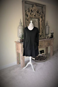 Black Knee length Tunic/Dress