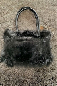 Gorgeous Black Faux Fur Handbag