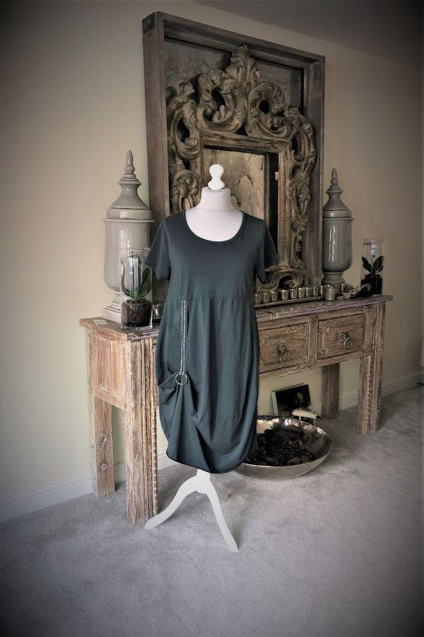 Charcoal Lagenlok Hook Dress