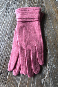 Raspberry Ruffle Cashmere Blend Gloves