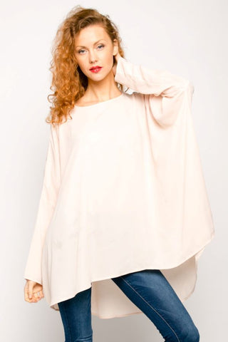 Cream Chiffon Fan shape Kaftan
