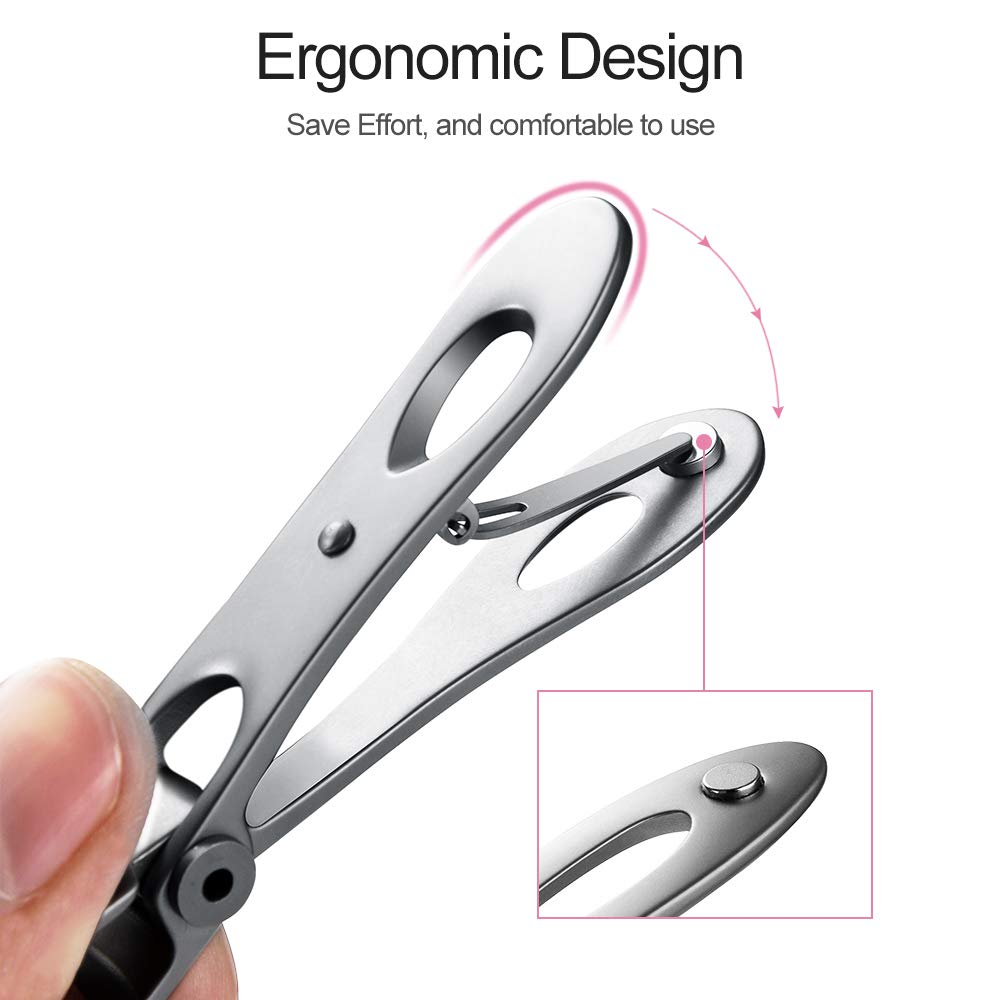 Mr.Green Nail Clipper, Ultra Wide Jaw Opening Toenail Clippers for Thick Nails Heavy Duty Stainless Steel Fingernail Clippers for Seniors