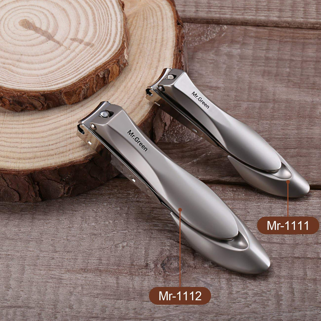 Nail Clippers with Catcher, Professional Stainless Steel Fingernail and Toenail Clipper Cutter, Trimmer Set for Men and Women